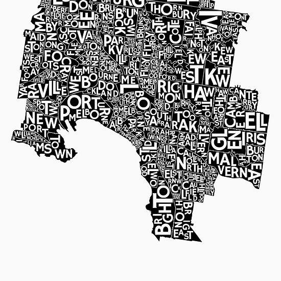 Melbourne Poster - Mono