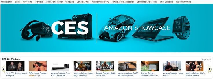 CES 2015 - Amazon Showcase The Consumer Electronics Show (CES), held each January in Las Vegas, introduces the latest tech and thousands of new gadgets to the industry, press, and consumers. Get some! DELIVERED