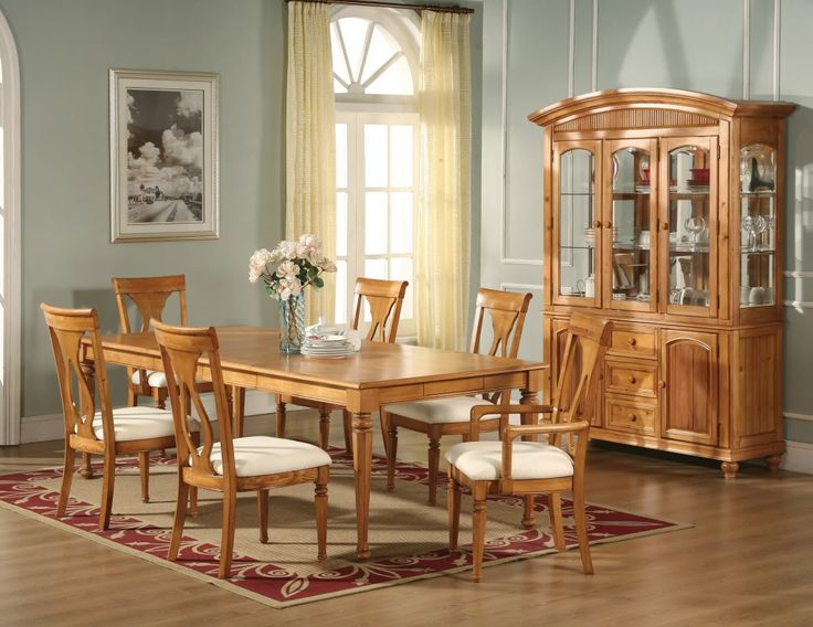 oak dining rooms pictures | Lexington Formal Dining Room Light Oak Finish Table Chairs