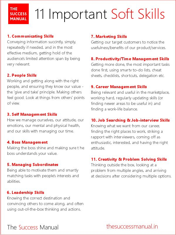 resume types of skills
