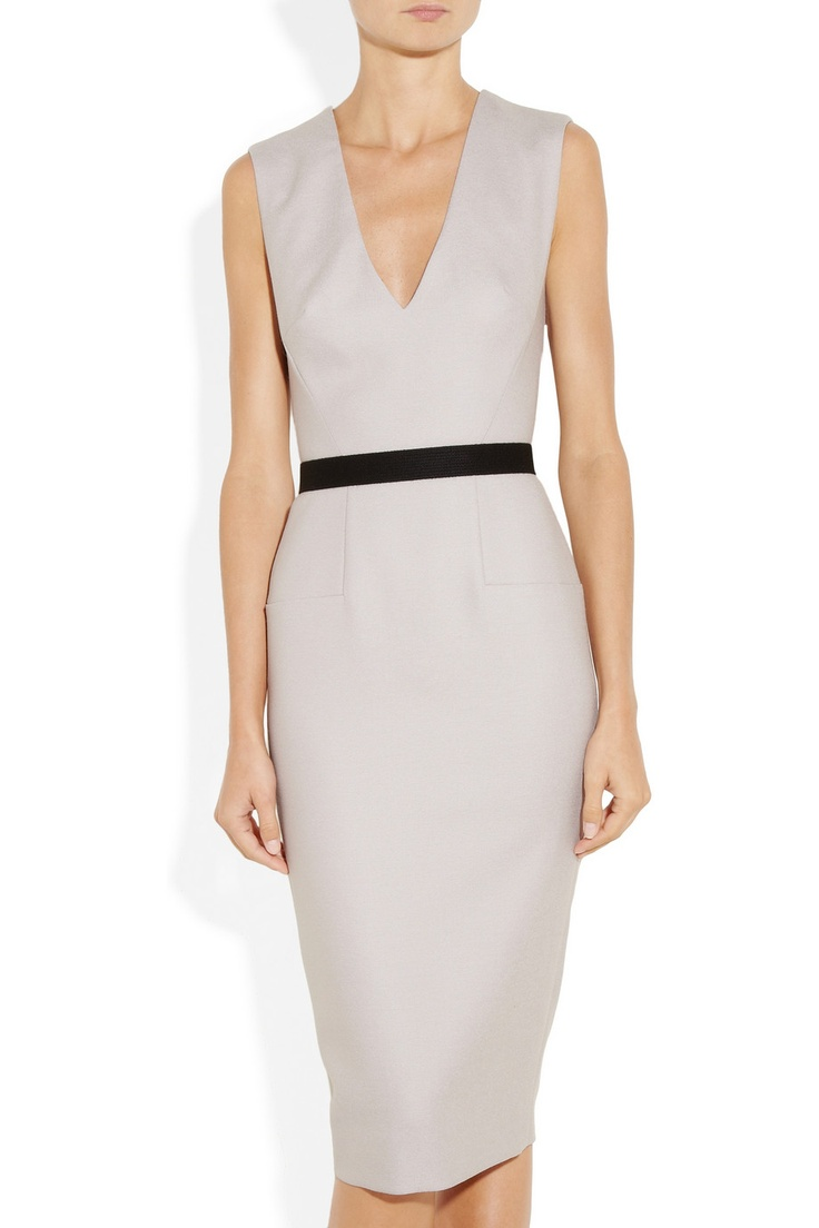 VICTORIA BECKHAM  Belted textured wool-blend dress: Defin Style, Dresses Style, Design Dresses, Beckham Dresses, Wool Blend Dresses, Gorgeous Dresses, Woolblend Dresses, Bm Dresses, Fashion Pin