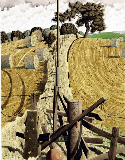 """simon palmer - """"high marriforth"""", watercolour with ink and gouache, nd."""