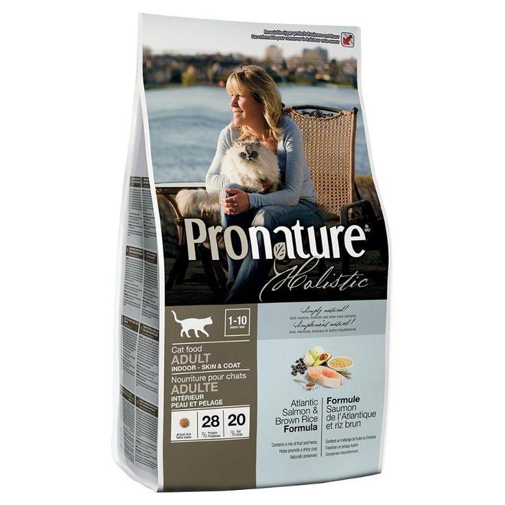 Корм ProNature Атлантический лосось и коричневый рис для кошек, живущих в помещении (5.44 кг)
