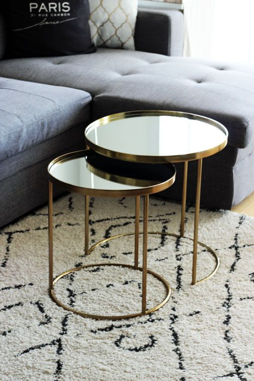 Round Gold Coffee Tables From Zara Home Http Brunetteshavemorefun Ca 2017