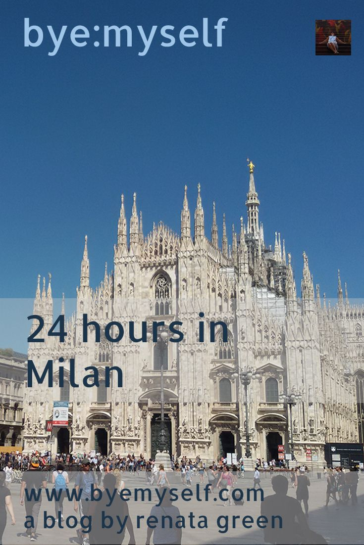 Itinerary for a perfect short stay of up to 24 hours - like e.g. a layover - in Milan, put together bye:myself.