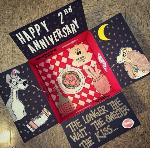 The longer the wait, the sweeter the kiss... Disney Lady & the Tramp theme care package