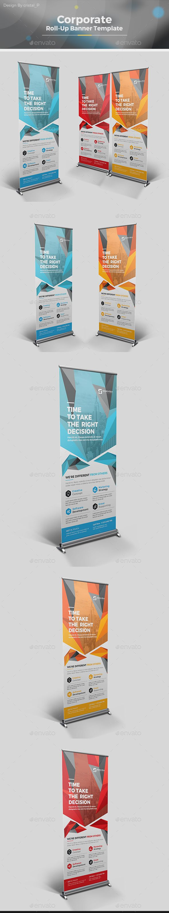 Roll-up Banner by CRISTAL_P Corporate Roll-up Banner Template Designis very easy...