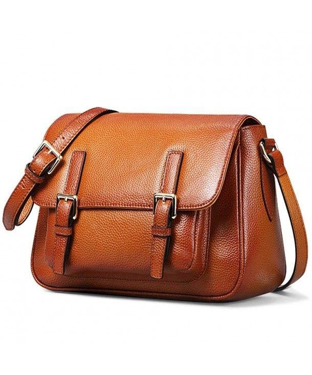 Women/'s Purse Vintage Genuine Brown Leather Cross Body Shoulder Handmade Bag