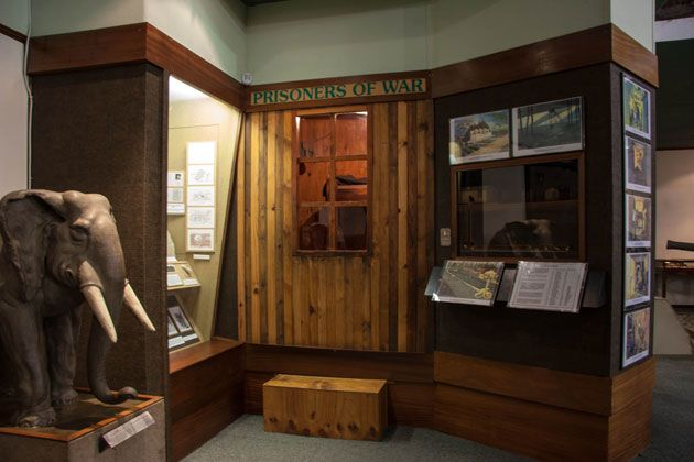 The prisoner of war display shows how the captives lived their lives and how some tried or managed to escape    http://citysightseeing-blog.co.za/2014/06/07/ditsong-national-museum-of-military-history-johannesburg/