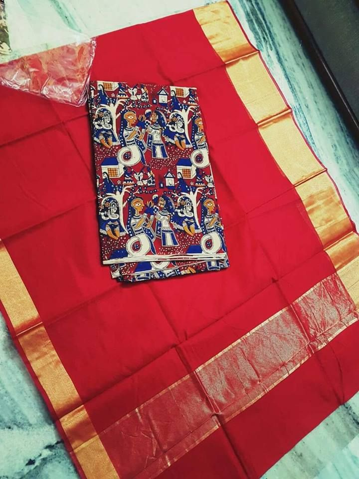 Latest Kota Sarees With Kalamkari Blouse | Buy Online Sarees | Elegant Fashion Wear