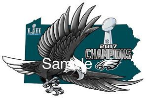 """Philadelphia Eagles Inspired Decal approx 7"""" SuperBowl Champions    eBay"""