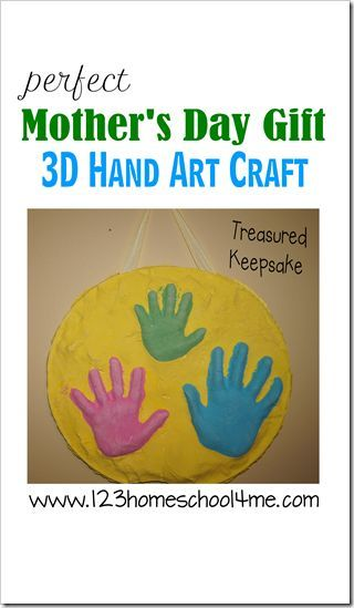 Beautiful Mother's Day Gift - 3D Hand Art Craft makes a beautiful, one of a kind keepsake for Mom of her precious children's hands. We tried this and it is still a favorite of mine!