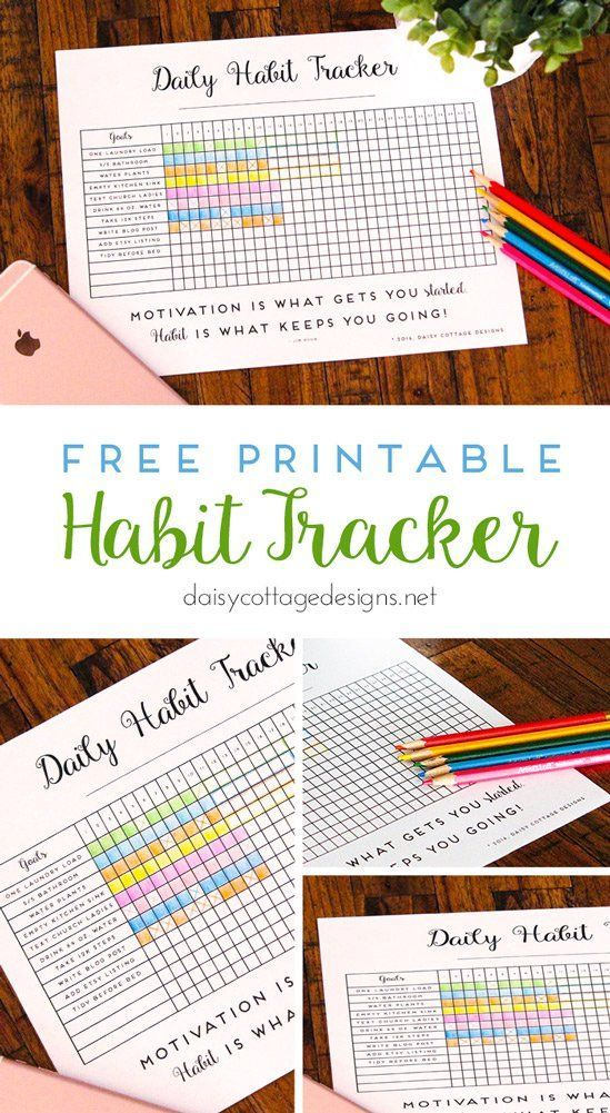 Organizational Printables - Habit Tracker Printable