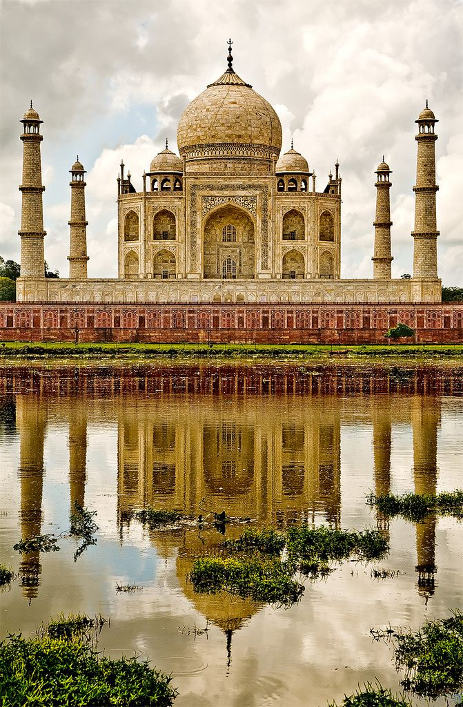 India. The Taj Mahal.  One of the seven Wonders of the World.