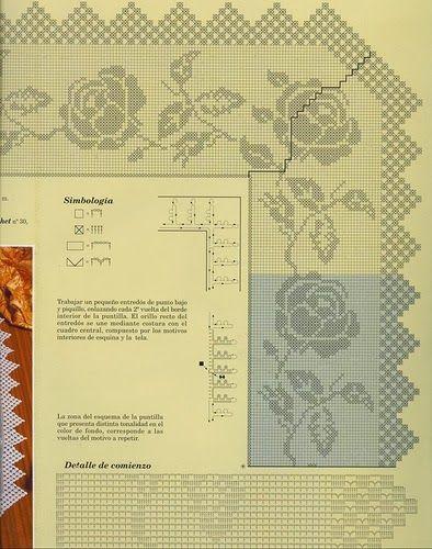 Σχέδια δαντέλας για πολύ όμορφα καρέ, Γωνίες και μπορντούρες για δαντελένια καρέ,  pattern lace for beautiful frames, corners and edgings for lacy frame επιλογή από το περιοδικό  muestras y motivos, modelli di pizzo per le belle cornici, angoli e bordi per telaio di pizzo,