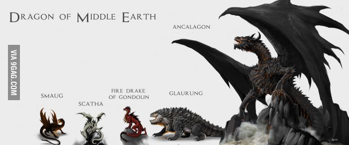 When you realize after reading Tolkien that Ancalagon the Black was huge... You know that Smaug was an amateur...