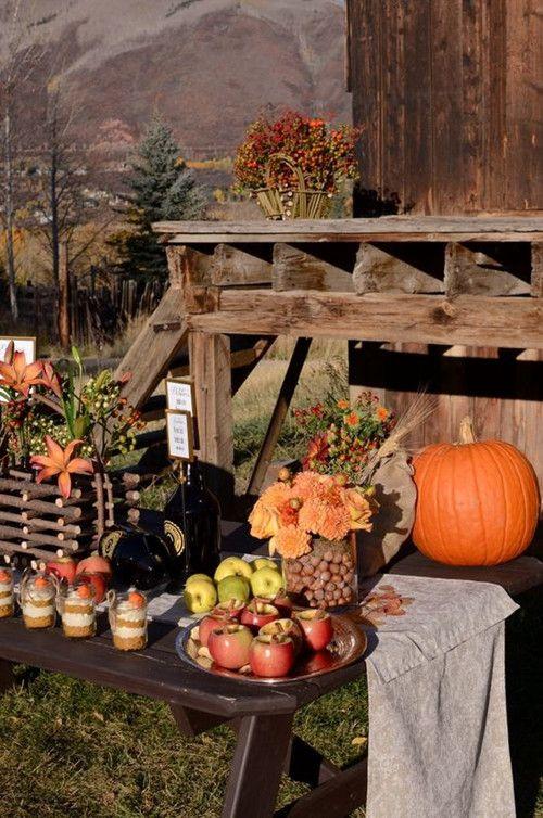 Herbst-Hochzeit-Tischdekor