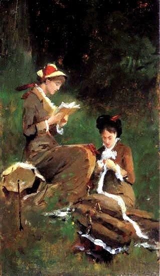 Unknown title. Serafín Avendaño (1838-1912) Spanish painter.