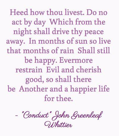 John Greenleaf Whittier Quotes