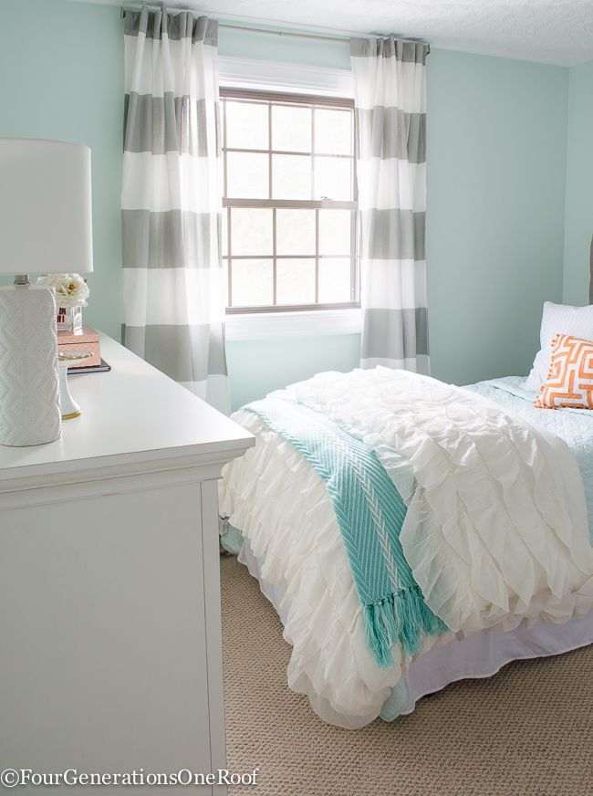 sophisticated girls bedroom teen makeover four generations one roof - Decorating Teenage Girl Bedroom Ideas
