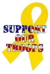 Yellow Ribbon/Support Our Troops Sticker    https://www.1starmy.com/p-yellow-ribbon-support-our-troops-sticker-78104