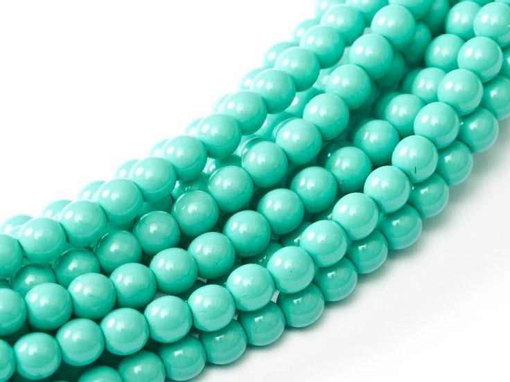 20 pcs  Green round beads 2mm round beads. 3mm round beads. 4mm round bead. Glass Pearl 2mm, 3mm, 4mm. Czech round Glass Bead by Vladbeads on Etsy