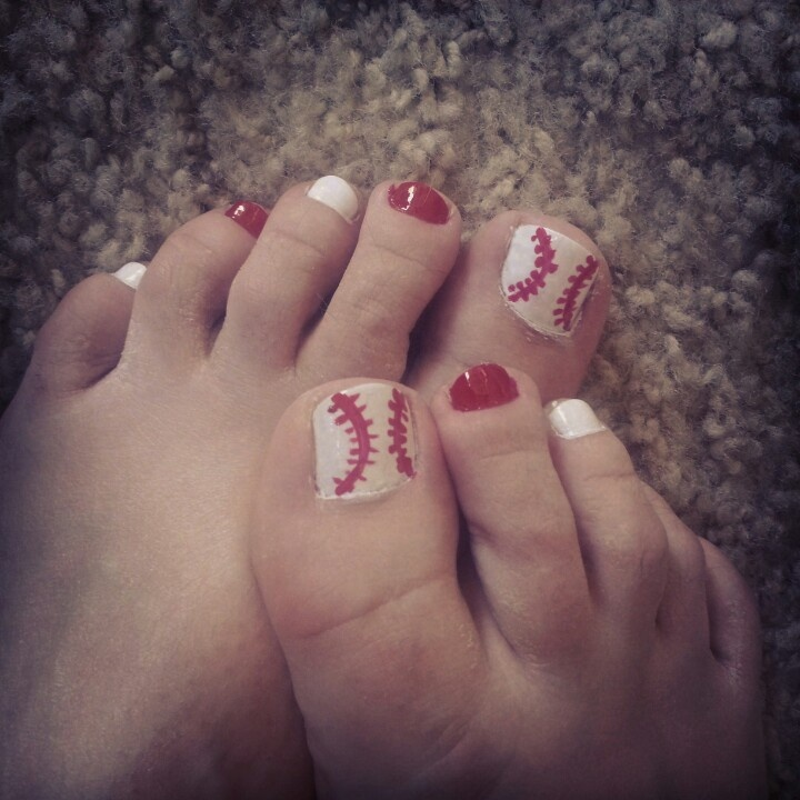 25 trending baseball toes ideas on pinterest baseball nail baseball toe nails perfect for summer style prinsesfo Images