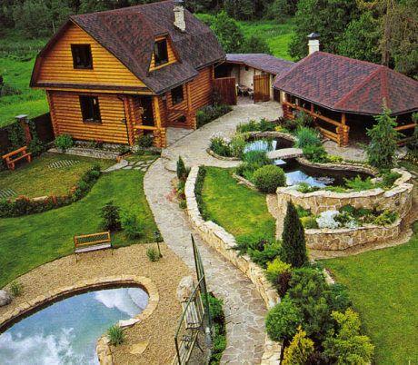 Ландшафтный дизайн частный дом видео