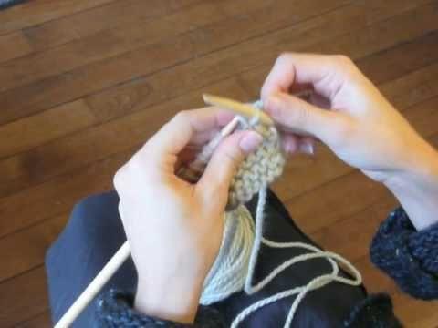 Cours de tricot 4 - arrêter les mailles - YouTube