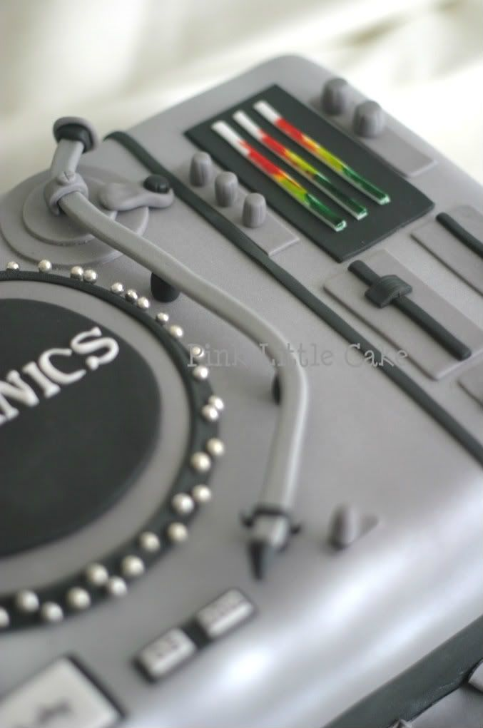 DJ turntable detail
