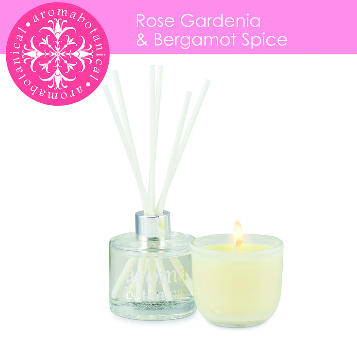 This traditional rose scent is lifted by gardenia and balanced by bergamont. Now available in a set, mini candle and diffuser.