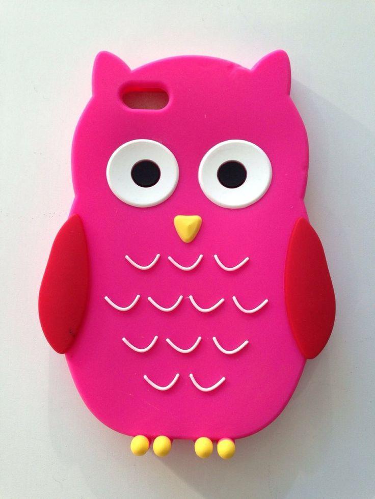 Carcasa silicona Buho rosa Iphone 5G/5S/5C a 5,95€ Envíos incluidos www.mcase.es
