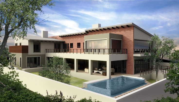 3d image of a previous project in the Waterfall Country Estate.  House is being built check out the House February Board for more images of the house being built etc.