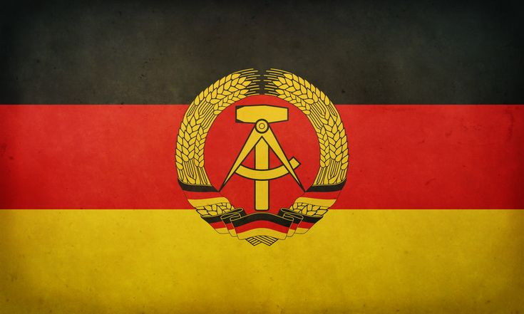 Flag of the former East Germany