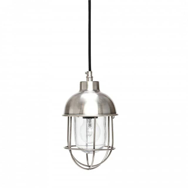 Lampe mit Glashaube & Metallkorb - myadele