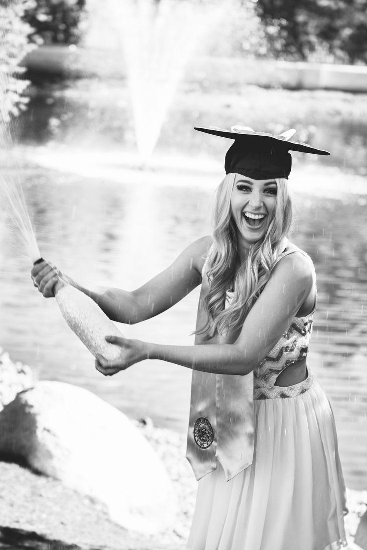 College Graduation Pictures Champagne— L'amour Fou Photo