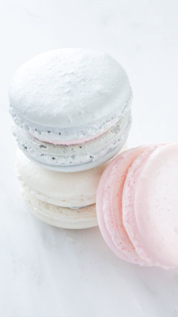 French Macaron Cookies 36 Pink SIlver by SplendidSweetShoppe, $72.00