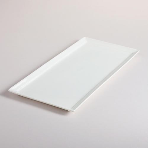 Mini White Porcelain Rectangular Tasting Plates Set of 4 by World Market & 38 best Party Plates Napkins u0026 Utensils images on Pinterest | Party ...