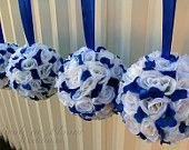 royal blue and silver wedding tables - Google Search