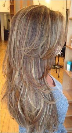 peinado en capas para pelo largo