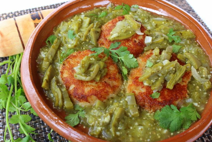 Potato Cakes with Shrimp and Nopales