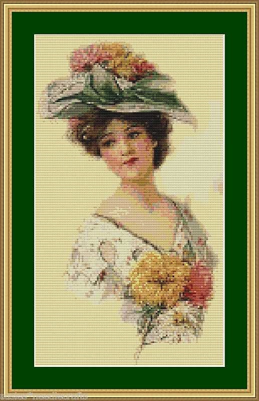 Victorian Lady - Counted Cross Stitch