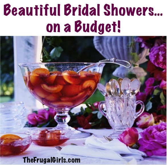 How to To Throw a Beautiful Bridal Shower… on a Budget! ~ at TheFrugalGirls.com #bridal #showers