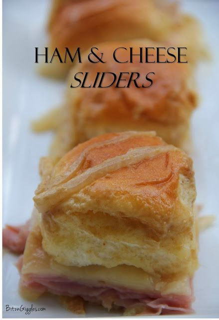 Ham & Cheese Sliders - What a great appetizer for your next party or even your next lunch at home with the family! These little sandwiches are bursting with flavor and can be prepared from start-to-finish in about 30 minutes. #Ham, #cheese, #appetizer, #sandwich