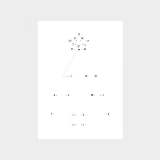 Postkarte mit Tannenbaum 'Malen nach Zahlen' - HOOK & EYE