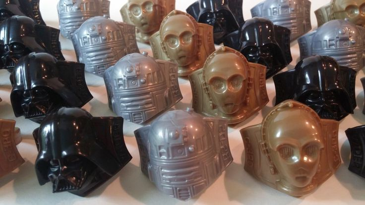 24 STAR WARS rings Darth Vader C3PO R2D2 rings birthday party cupcake topper favor Lucasfilms cake lightsaber by AisforApronStrings on Etsy https://www.etsy.com/listing/229947071/24-star-wars-rings-darth-vader-c3po-r2d2