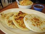Yummy pupusas!  Salvadoran treat.  Make them at home if you don't live near a Salvadoran restaurant!
