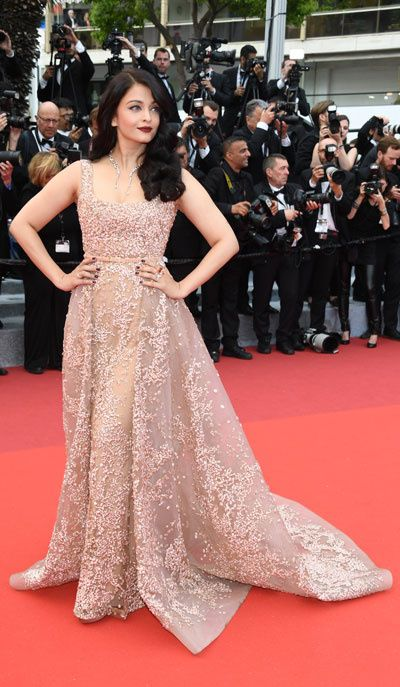 Aishwarya Rai | Cannes 2016 | Dress : Elie Saab | Jewelry : Boucheron