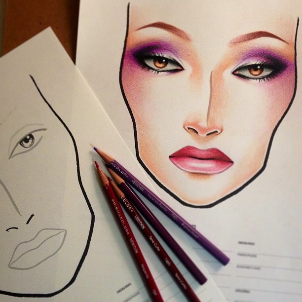 100 best images about Mac Makeup Face charts on Pinterest ...