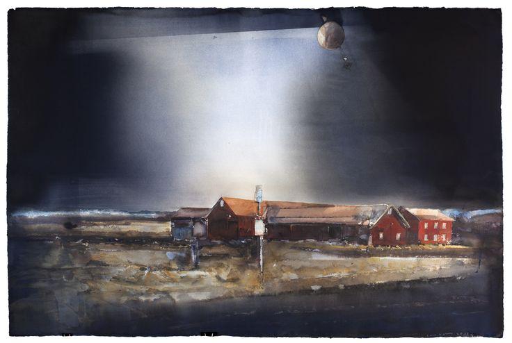 Lars Lerin - Swedish moody water colours